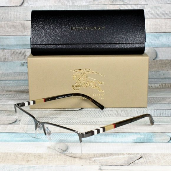 Burberry Gunmetal 55mm Eyeglasses